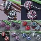 5X Crystal Round Spacer Disco Ball Loose Bead Charm Jewelry Bracelet Making DIY