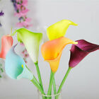 Lot Lily Artificial Calla Wedding Bouquet head Fake Silk Flower Party Home Decor