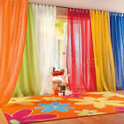 Hot 10Colors Home Door Window Room Divider Shade Sheer Voile Drape Panel Curtain
