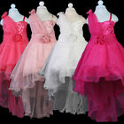 Baby White Girls Princess Sequins Party Evening Bridesmaid Wedding Tailing Dress