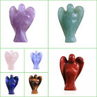 Natural Lapis Lazuli Amethyst Carved Crystal Healing Angel Wing Figurine Crafts