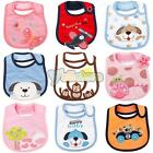 Waterproof Cute Soft Embroidery Style Baby Child Kids Lunch Feeding Bib Cotton