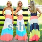 BOHO Sexy Women Summer Chiffon Long Maxi Evening Party Beach Dresses Sundress