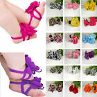 Baby Toddler Infant Girls Barefoot cotton Flower Sock Sandals Toe Blooms Shoes