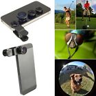 UNIVERSAL CLIP ON 3 IN 1 FISHEYE WIDE ANGLE MACRO CAMERA LENS FOR PHONE TABLETS