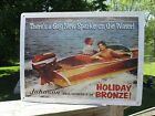 Vintage+JOHNSON+SEAHORSE+%22Holiday+Bronze+Gay+New+Sparkle%22+Boat+Motor+Adv+Sign