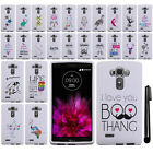 For LG G4 H815 F500 VS986 H810 Cute Design PATTERN HARD Case Phone Cover + Pen