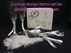 """All because 2 People Fell in LOVE""  Wedding Lot U PICK Glasses Cake Knife Book"