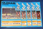 OLDHAM ATHLETIC HOME PROGRAMMES 1979-1980