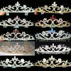 Bridesmaid Prom Pink Blue Red Crystal Gold / Silver Plated Tiara Party T039RG