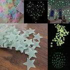 New 100x Home Wall Night Glow Space Star Stickers Ceiling Decal Baby Room 3cm