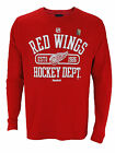 Reebok NHL Hockey Men's Detroit Red Wings Long Sleeve Thermal Shirt, Red