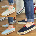 NEW Men's Cozy Canvas Casual Lace Non-slip Loafer Shoes Moccasins Driving Shoes