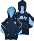 Adidas MLB Baseball Youth Tampa Bay Devil Rays Lightweight Hooded Jacket, Navy