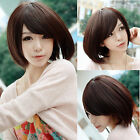 Lovely Fashion Bob Wig Short Straight Natural Hair Women Full Wig Cosplay Party
