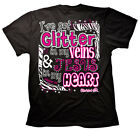 Christian T-shirt I've got Glitter in my Veins and Jesus in my Heart
