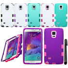 For Samsung Galaxy Note 4 N910 Impact TUFF HYBRID Rubber HARD Case Cover + Pen