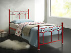 New Chiswick Boys Childrens Red Football Soccer Metal Bed Frame RRP £129