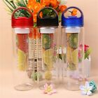 Sports Bicycle Health Fruit Infusing Infuser 700ML Water Bottle Lemon Juice Make