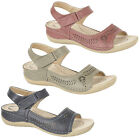 Ladies Girls New Comfort Casual Cut Out Velcro Halter Back Sandals 3 4 5 6 7 8