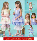 SEWING PATTERN! MAKE  GIRL BOUTIQUE STYLE DRESS~PANTS~NECKLACE! SUMMER CLOTHES