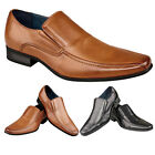 Mens New Casual Smart Comfortable Leisure Twin Gusset Loafers Tan Black Shoes 8