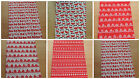 1 CHRISTMAS TABLE RUNNER- nordic reindeer home,pudding -fully lined red