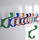 Aluminum Wall Bath Hanger Colorful Single Double Hat Coat Robe Door Hooks 056