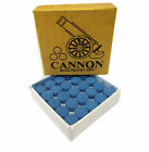 CANNON BLUE VELVET CUE TIPS AVAILABLE IN VARIOUS SIZES AND QUANTITIES.