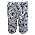 EDWIN SHORTS RAIL MENS NAVY WHITE PALM BERMUDAS