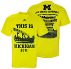 Adidas NCAA Men's UofM Michigan Wolverines 2011 Football Home Schedule T-Shirt
