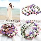 Head Hair Band With Daisy Flowers Garland Wreath Wedding Party Surf Hipy Fairy