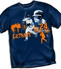 Miguel Cabrera Detroit Tigers Stitch- Blue - T Shirt Adult Sizes