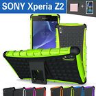 TPU Case Cover For SONY Xperia Z2 Shockproof Heavy Duty With Kickstand