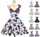 VINTAGE Style  Rockabilly Floral Swing 50s 60s pinup Jive Housewife Retro Dress