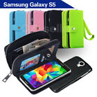 Samsung Galaxy S5 i9600 Case Magnet Leather Coins Wallet Cover