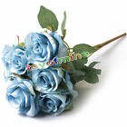 Artificial Rose Silk Flower lifelike Home Wedding Party Decor 1 Bouquet 7 Heads