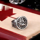 NEW COOL Stainless Steel Ring Retro Mens Jewelry Lion CB143