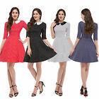 Sweet Girls Vintage Style Retro Rockabilly Dress 50s 60s Swing Pinup Party Dress