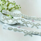 Bridal Dress Rhinestone Waistband Beaded Crystal Belt Wedding Sash Hair Headband
