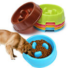 Pet Dog Cat Slow Feeder Water Bowl Puppy Anti Slip Choke Gulp Feed Bloat Dish UK