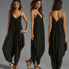 Korean New Womens Jumpsuits Rompers Harem Pants Casual Trousers Summer Playsuits