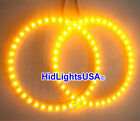 Pair Universal Amber Blue Red White SMD LED Ring ANGEL EYE Head/Tail Lights Lamp