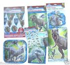Jurassic World Party Plates Napkins Cups Tableware Stickers Loot Bags Dinosaur