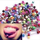 30/60/80/100Pcs Mixed Ball Nipple Tongue Bars Ring Barbell Stud Body Piercing