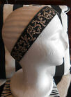 HARAH DESIGNS BLACK AND SILVER DRESS HEADBAND FASCINATOR GREAT GATSBY HEAD DRESS