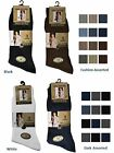 12 Mens Ribbed 100% Cotton Soft Top Elastic Socks / UK 6-11