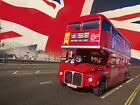 London Double Decker Bus Giant Wall Mural 315x232cm