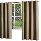 Thermaplus Darcy A Woven Blackout Wide Grommet Top Window Panel Brown