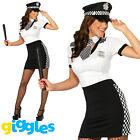 Police Woman Costume Womens Ladies Cop Officer Uniform Fancy Dress Hen Party